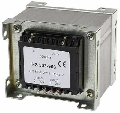 RS Pro 200VA 2 Output Chassis Mounting Transformer, 20V ac