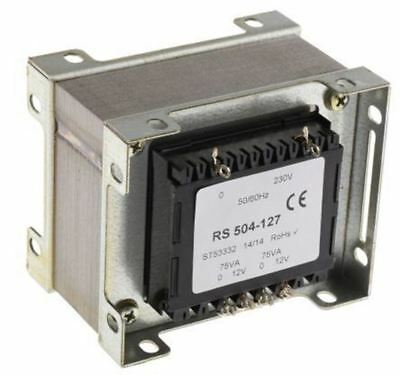 RS Pro 150VA 2 Output Chassis Mounting Transformer, 12V ac