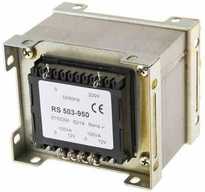 RS Pro 200VA 2 Output Chassis Mounting Transformer, 12V ac