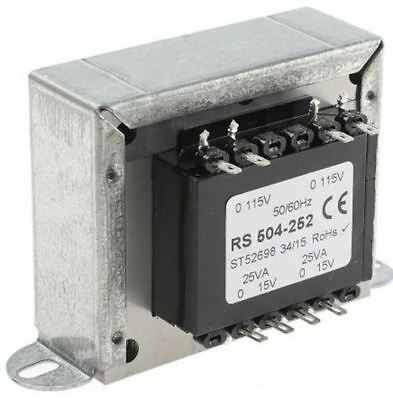 RS Pro 50VA 2 Output Chassis Mounting Transformer, 15V ac