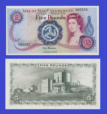 Isle of man 5 pound 1972 UNC - Reproduction