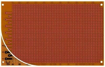 RE526-HP, Single Sided DIN 41612 H Eurocard PCB FR2 with 36 x 56 1mm Holes, 2.54