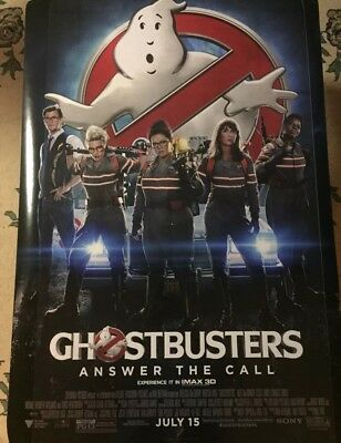GHOSTBUSTERS Authentic 27x40 D/S Rolled Movie Poster.