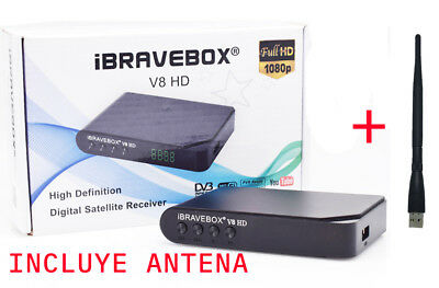 【OFERTA LIMITADA】IBRAVEBOX V8 HD satélite TV receptor  Full HD USB  antena WIFI