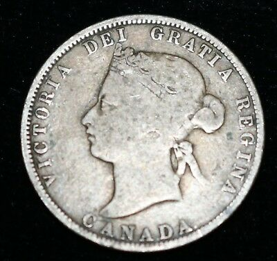 1871 Canadian Silver Quarter Coin