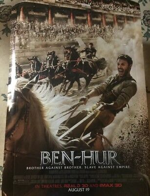 BEN-HUR Authentic 27x40 D/S Rolled Movie Poster.