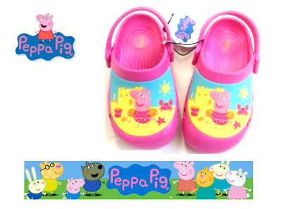 Official Peppa Pig Beach Sandals Summer Clogs Mules Kids Slip On Shoes Size 4-10