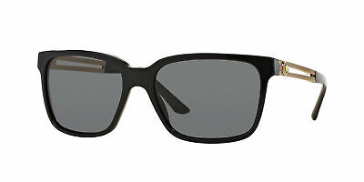 68f28d5262c9 28 VERSACE MOD 4307 GB1 87 Black Gray Gold Polarized Sunglasses 58 ...