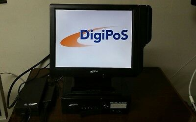 "DIGIPOS RETAIL ACTIVE & TD1500 15"" Touchscreen LCD 2GB 160GB Win 7 POS SYSTEM"