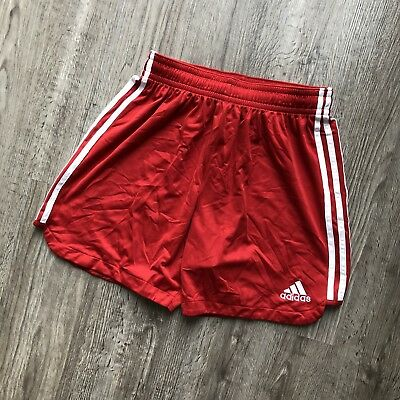 Vintage Adidas Men's Running Shorts Large Red White Stripes Fitness Athletic 90'