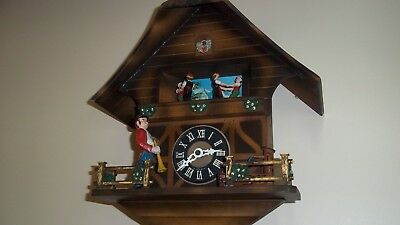 Cuckoo Clock Old 3 Weight Automaton Schmeckenbecher Regula Black Forest