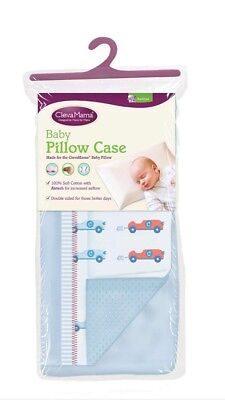 Clevamama Replacement Baby Pillow Case Cover (Blue) Brand new approx 39x23cm