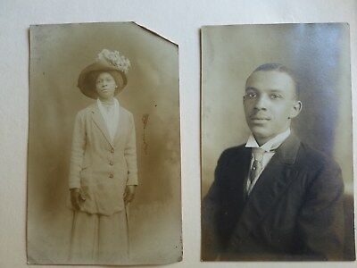 Nice Group Of Two Vintage African American Photographs From Local Estate