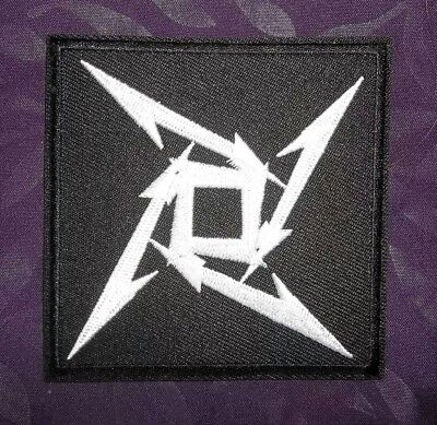 Metallica Patch Death Magnetic Logo Embroidered Heavy Metal Thrash 80'S Diy