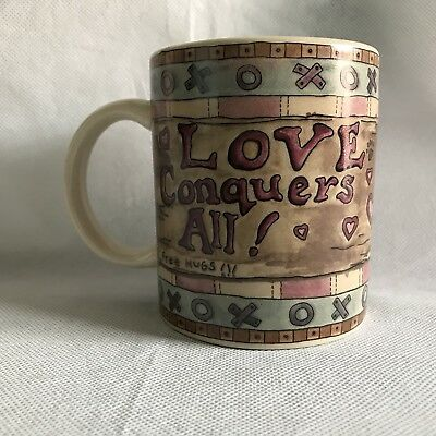 """The Boyds Collection Bearware 1998 Love Conquers All Coffee Cup Mug Size 3.75"""" T"""
