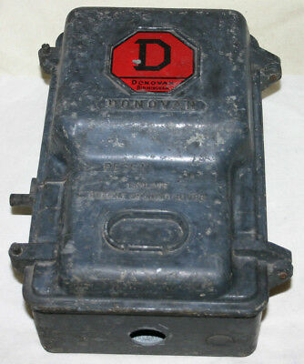 Vintage Industrial  DONOVAN Cast Iron Starter - Steampunk Original Condition