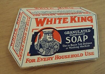 """Antique ca 1900 ADVERTISING 'Needle Packet' Die Cut Card~""""WHITE KING SOAP""""~"""