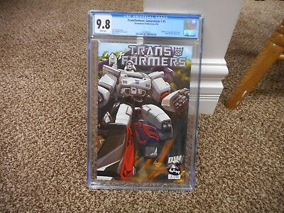 Transformers Generation One 1 cgc 9.8 Decepticons cover variant DW 2002 G1 MINT