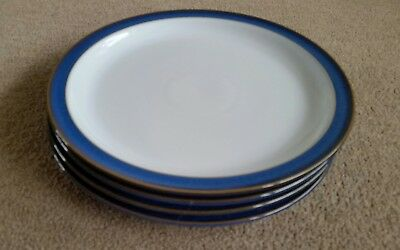 Set of four Denby Imperial Blue 26.5 cm Dinner Plates