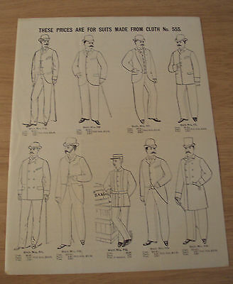 "RARE ca 1880 ADVERTISING Flyer~""BROWNING, KING & Co.""~Western Union UNIFORMS~"