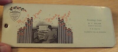 """VTG 1940's UNUSUAL Holiday Greeting Advertising """"PACK OF INK BLOTTERS""""~"""
