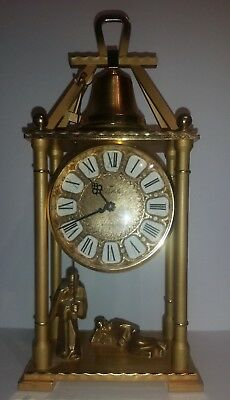 "RARE SWISS  STRIKING MANTEL CLOCK marked  ""Relide"" ON DIAL-   MONK BELL PULL"