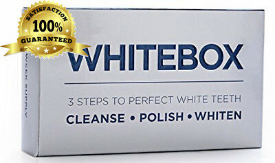 WHITEBOX Professional Advanced Teeth Whitening Strips Made by UK based...