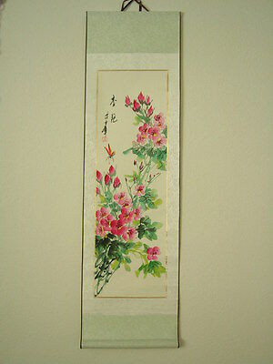Chinese Scroll Painting Flowers***USA seller see description