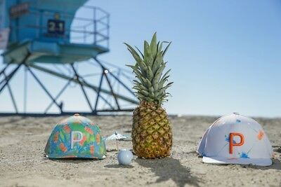 2 Puma Paradise P Snapback Cap Hat Rickie Fowler Limited Edition Pineapple f71ca9449ea