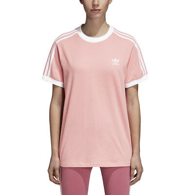 8f55bc3a4c New Women's Adidas Originals 3-Stripes Tee [Dh3186] Tactile Rose // White