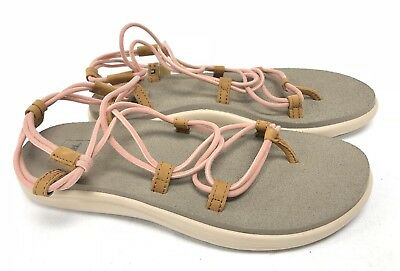 dee1f24d1cd Teva Voya Infinity Tropical Peach Sandals Womens Shoes 1019622 Strappy  Stretch