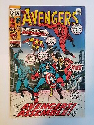 The Avengers #82 FN Condition