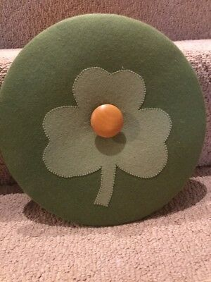 Longaberger Shamrock  Lid For Darning Basket