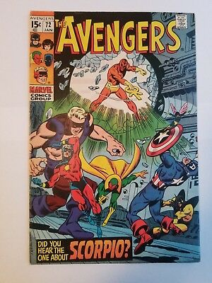 The Avengers #72 FN Condition