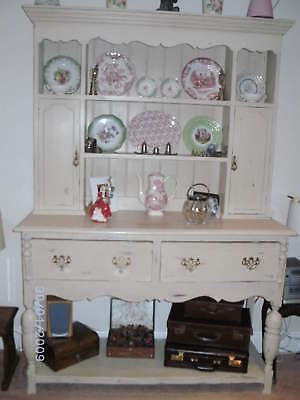 Small Vintage Distress Painted Welsh Dresser