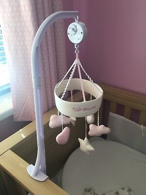 Clair De Lune Little Dreams Cot Musical Mobile in Pink Girl
