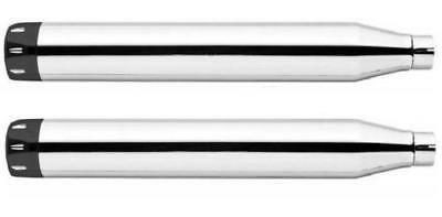 Freedom Performance Signature Series Slip-On Mufflers Chrome/Black #HD00190