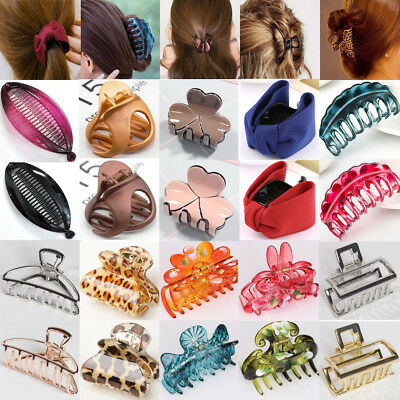 New Women Girls Acrylic Plastic Hair Clip Clips Claw Comb Accessories Headwear