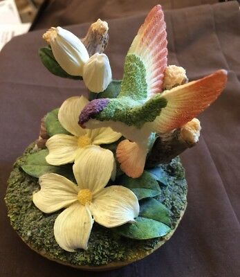 Home Interior Resin Hummingbird Jar Candle Topper