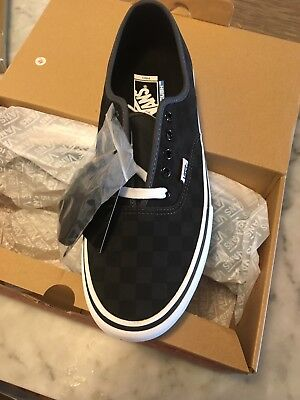 488230b874 100%Vans Authentic Classic Checkerboard Black Mens Sneakers Shoes Size 11