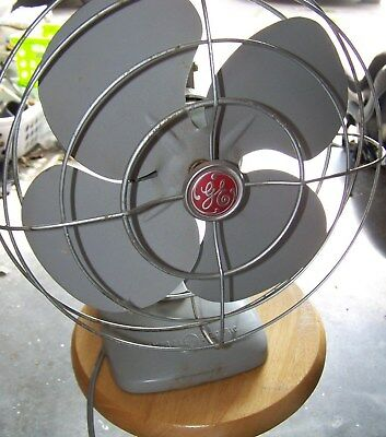 Vintage General Electric Oscillating Fan - Art Deco/SteamPunk Look - All Working