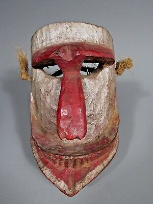 Mexico Mexican Carved Polychrome Wood Festival Monkey Mask ca. 20th century