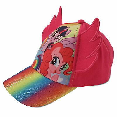 Hasbro Little Girls My Little Pony Character Cotton Baseball Cap, Pink, Age 2-7