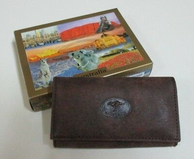 Key Wallet with 6 Rings - Genuine Leather - Australian Souvenir in Box - Unused