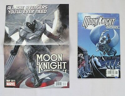 Moon Knight Saga 2009 with Moon Knight 1 / Uncanny X-Force promo poster Marvel!