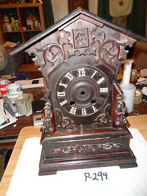Antique-Walnut-Shelf-Cuckoo Clock Case-Ca.1880-To Restore-#P294