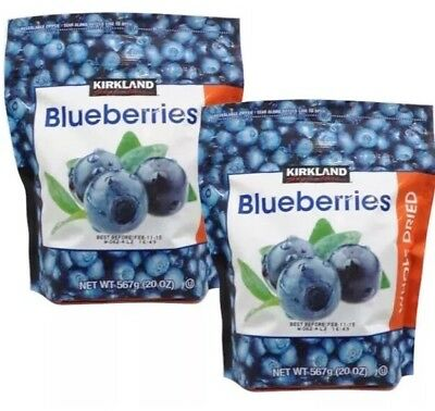 2x Kirkland Whole Dried Blueberries 567g (Total =1.134kg)