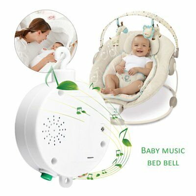Nursery New Songs Rotary Baby Mobile Crib Bed Toy Music Box Movement Bell  GL