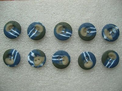 07's series China PLA Navy & Marines Ocean Camouflage Resin Buttons,10 Pcs,20mm
