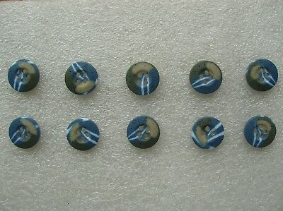 07's series China PLA Navy & Marines Ocean Camouflage Resin Buttons,10 Pcs,15mm